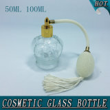 frasco de perfume de vidro cosmético do espaço livre da forma da coroa de 50ml 100ml