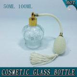 50ml 100ml Crown Shape Clear Cosmetic Glass Perfume Bottle
