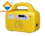 10W FM와 USB를 가진 태양 가정 조명 시설