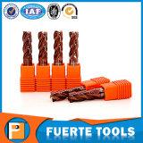 2 máquina ferramenta de trituração do torno do CNC do carboneto de tungstênio das flautas