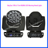 LED lumière Disco le déplacement de la tête*15W 19pcs Big Eye K10