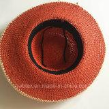Шлем лета Brim красного пляжа сторновки женщин Faashion бумажного большой широкий (HW05)