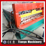 Motor hidráulico que conduce el rodillo de acero del color del azulejo de azotea del metal que forma la máquina
