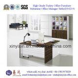 Hölzerner Büro-Möbel-kundenspezifischer Büro-Schreibtisch mit L-Form (D1609#)