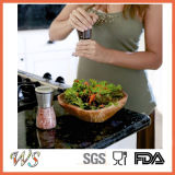 Accoppiamenti del laminatoio del sale & di pepe di Ws-Pgs002 Twinzee con ruvidezza registrabile ed il corpo di vetro Stunning - smerigliatrice spazzolata del sale dell'acciaio inossidabile