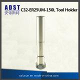 Tirada recta de la asta de la máquina del CNC del sostenedor de herramienta de los cenadores C32-Er25um-150 del CNC