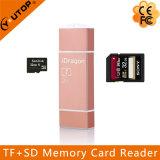 Lightning+Micro USB+USB (YT-R004)のための金属のMicrosd (TF) +SD OTGのカード読取り装置