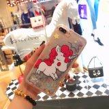 iPhone 6s/6s를 위한 액체 모래 만화 인쇄 셀룰라 전화 상자를 가진 새로운 디자인 플러스, 더하기 7/7