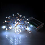 Luces aprobadas de la cadena del alambre de cobre del rectángulo de batería de la decoración de RoHS del Ce LED