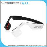 Auricular blanco sin hilos del teléfono de Bluetooth de la conducción de hueso