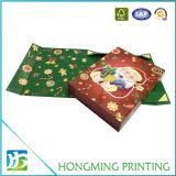 Caja plegable de Navidad de cartón de papel con diseño personalizado