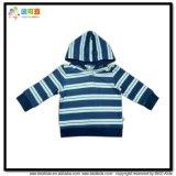 아기를 인쇄하는 줄무늬는 Gots 아이 재킷을 입는다
