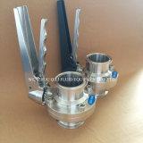 SS304 SS316L санитарные из нержавеющей стали три зажима двухстворчатый клапан