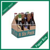 Projetar a caixa do vinho do cartão do frasco da embalagem 4 ou 6
