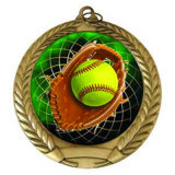 Commerce de gros de l'émail Softball Sport gagnant de vecteur de cadeaux de la guerre de la Médaille de bravoure
