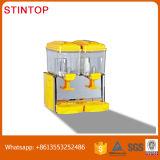 Automaat van het Vruchtesap van de Tank van Doubel de Gele Dekking Gekoelde Koude