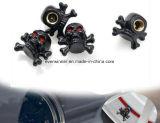 Verschieden von den Reifen-Ventil-Staubkappen, Schädel Xskull Kronen-Schlange-Kopf-Gummireifen-Ventil-Luft-Schutzkappen