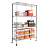 NSF réglable 4 Iers bricolage Chrome Metal Office Wire Rack (CJ9035150A4C)