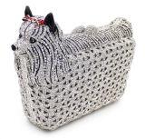 Handgemachter Frauen-Handtaschen-Hundekristallstein kuppelt Abend-Beutel Leb724