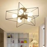 Modern Star Shape Coffee Shop Bar Salon de la lampe de plafond Lampe