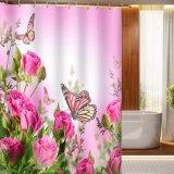 خاصّ بالأزهار [3د] [ديجتل] يطبع مسيكة بوليستر بناء غرفة حمّام [شوور كرتين] ([05س0022])
