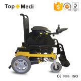 들기 전력 휠체어를 위로 서 있기