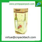 Bolsas de papel clasificadas brillantes del presente del partido del color de la botella de vino