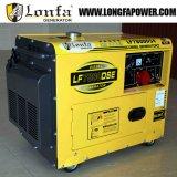 Портативное молчком сверхмощное 6.5kw генератор 6500 ватт тепловозный (одиночная фаза/трехфазно)
