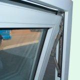 Het witte Dubbele Glas van het Venster van het Profiel van de Kleur UPVC Afbaardende met Net K02065