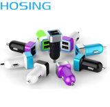 USB заряжателя автомобиля двойной без кабеля данных для мобильных устройств