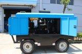 compressore d'aria diesel della rotella del Portable 2 di 247cfm 7bar per scavare
