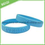 Pulseira de silicone personalizada em relevo, banda de borracha para promoção
