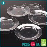 Effacer/PS jetables en plastique de couleur transparente partie plaque ronds/carrés