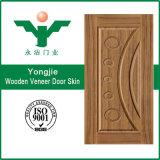Peau Yiwu de porte moulée par placage du teck HDF de nature de la Chine