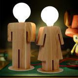 목제 에너지 절약 책상 빛 소녀 소년 모양 어린이 방을%s 현대 테이블 램프