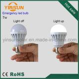 Ampoule Emergency sèche du recul de batterie de qualité 7W E27 DEL (3W-15W)