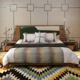 동남 아시아 현대 단단한 나무 침대 침실 가구 CH-601