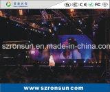 P3.91 500X1000mm 알루미늄 Die-Casting 내각 단계 임대 실내 LED 스크린