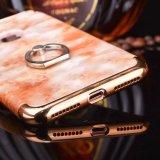 Luxe 3 in 1 Marmeren Geval van de Telefoon van de Tribune van de Houder van de Ring van de Ader voor iPhone 7 7 plus