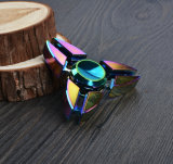 O girador o mais barato do dedo do girador da mão do girador da inquietação da Tri-Barra da liga do zinco do diodo emissor de luz do caranguejo Fs033 para o divertimento