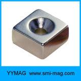 De vierkante Magnetische Magneet van de Zeldzame aarde van NdFeB van het Blok met Gat