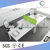 Muebles modernos Escritorio de computadora cruzado Mesa de trabajo de oficina con partición