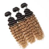 Extensões de cabelo humano brasileiro 1b 27 30 Loiro onda profunda Pacotes de cabelo