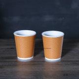 주문품 잔물결 벽 종이 처분할 수 있는 컵
