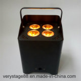 4 X 18W RGBWA + UV6in1 Draadloze LEIDENE Uplight/Navulbare Draadloze LEIDEN Op batterijen Huwelijk Uplight