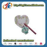 Taccuino e penna svegli promozionali di Stationey con la casella di plastica del cuore