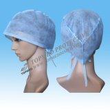 짠것이 아닌 처분할 수 있는 외과의사 모자, Tie-on 위생 외과의사 모자