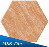 Bois-Regarder la tuile rustique Kl-10-Y2 d'hexagone de porcelaine
