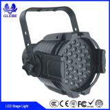 Banheira de vender o equipamento de decoração de eventos RGBW à prova de luz PAR 54 PCS 3W fase LED Light