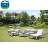 Mobilia del giardino per a metà in tondo il salotto di vimini sezionale stabilito del sofà del sofà esterno del rattan